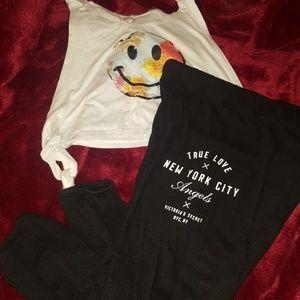 Victoria's Secret sweatpants with shirt